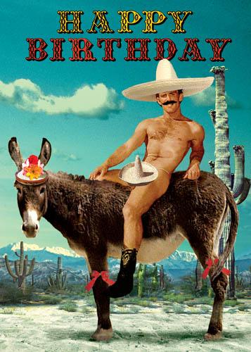 Happy Birthday Mexican Donkey Greeting Card By Max Hernn