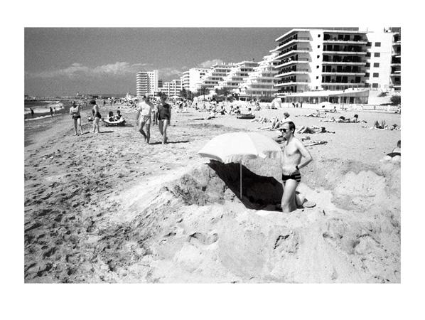 A day at the beach 40 x 30cm black white print by max hernn