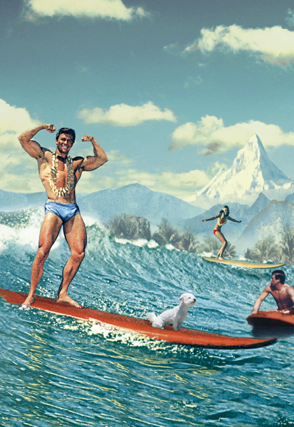 Single Surfer Postcard By Max Hernn