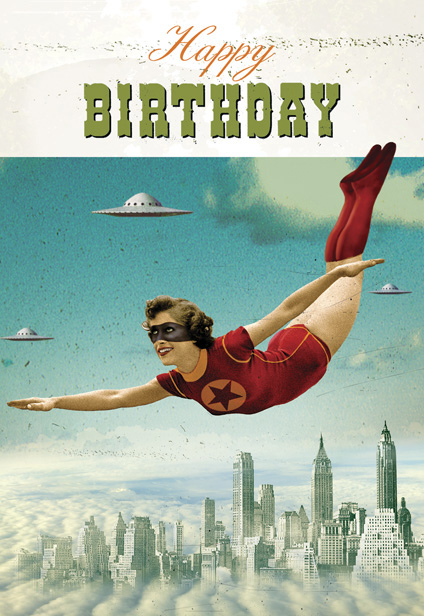Birthday Supergirl Pack Of 8 Postcards With Envelopes