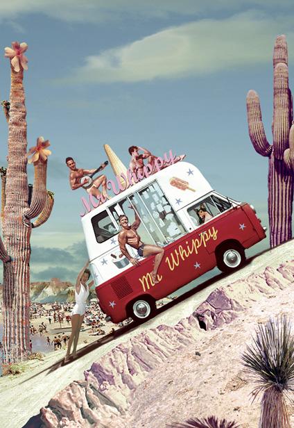 Mr Whippy Postcard By Max Hernn