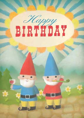 Lip international vintage retro greeting cards happy birthday gnomes greeting card by stephen mackey bookmarktalkfo Image collections