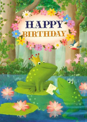 Lip international vintage retro greeting cards happy birthday frog greeting card by stephen mackey m4hsunfo