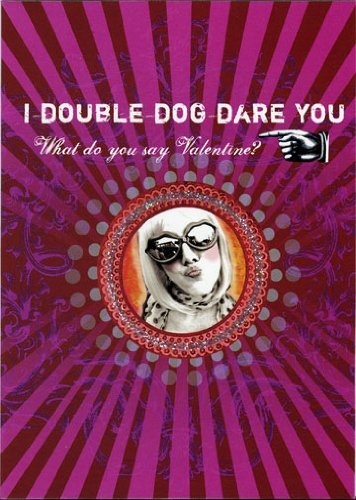 Lip international vintage retro greeting cards double dog dare you greeting card by papaya 2 for 1 offer m4hsunfo Images