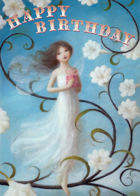 Lip international vintage retro greeting cards happy birthday white fairy greeting card by stephen mackey bookmarktalkfo Image collections