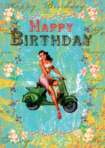 Lip International Vintage Retro Greeting Cards – International Birthday Cards
