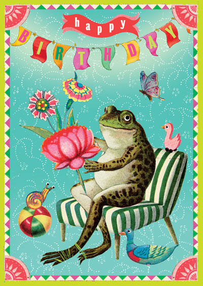 Lip international vintage retro greeting cards happy birthday frog greeting card m4hsunfo